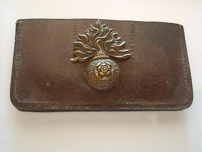 Ww1 Trench Art Wallet With Royal Fusilers Cap Badge On The Back