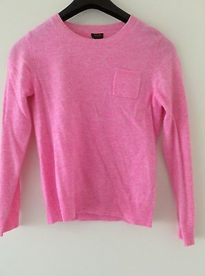 Jcrew kids cashmere sweater neon pink Size 14