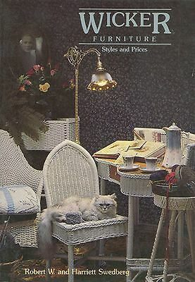 Antique Wicker Furniture - Tables Chairs Desks Etc / Scarce Book + Values