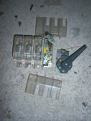 415V Three Phase 160A Fused Panel Door Disconnect Switch Ufs160 Free Uk Post