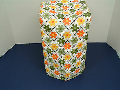 vintage retro flower pattern large  kitchen appliance cover quilted vinyl