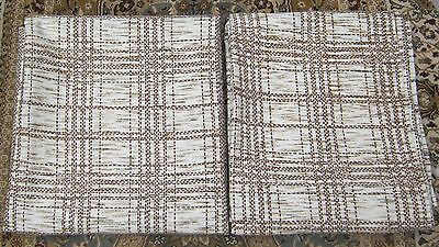 Mid Century Vintage Retro Pair Of Curtains 70 Drop 60 Wide