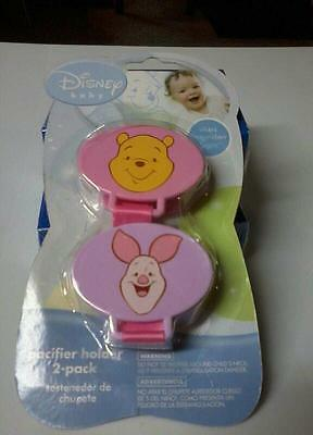 Disney Baby 2 piece Pacifier Holder Pooh and Piglet