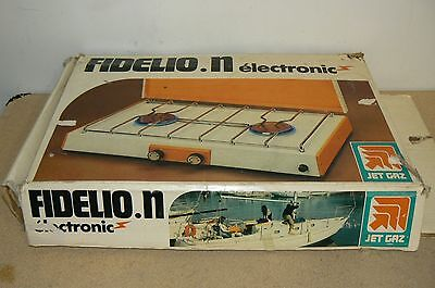 Vintage JET GAZ FIDELIO N electronic propane 2 burner camping stove not Coleman.