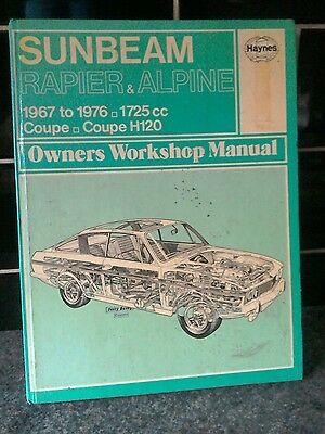 Sunbeam Rapier Workshop Manual