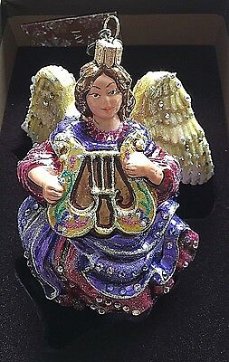 Jay Strongwater Jeweled Angel Christmas Ornament Swarovski Chrystal New In Box