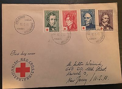Finland 1948 Fdc Finnish Red Cross
