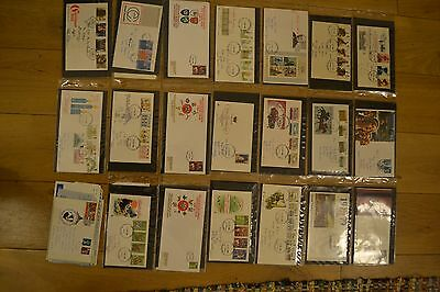 Royal Mail Great Britain First Day Cover Collection 36 x Covers FDC 1970/80s