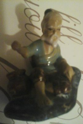 rare little chinese man ornament pottery