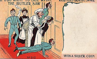 Antique Postcard If You Want To See What The Butler Saw Unposted