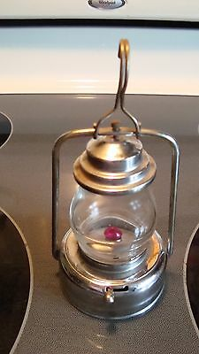 Toy Railroad Signal Lantern Made in Japan Crown & Cross Symbol Battery Operated