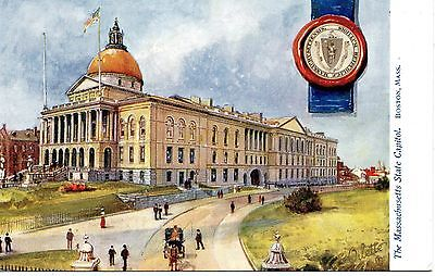 Antique Postcard The Massachusettes Stae Capitol Unposted Tuck,s
