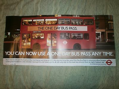 London Transport Routemaster Interior Poster-One Day Bus Pass 1986