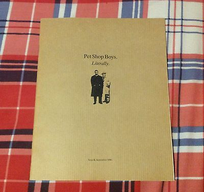 Pet Shop Boys Literally Official Fanclub Magazine Issue 4 from September 1990