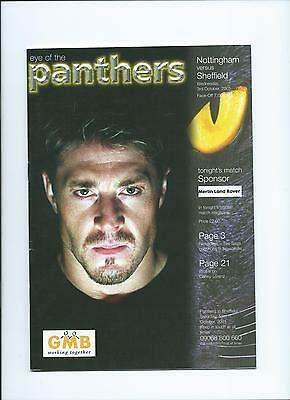 2001 Nottingham Panthers v Sheffield Steelers Oct 3rd Mint