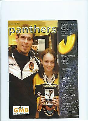 2001 Nottingham Panthers v Sheffield Steelers Dec 16th Mint