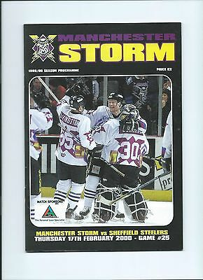 99/00 Manchester Storm v Sheffield Steelers Feb 17th  Mint