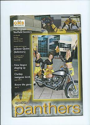 2003 Nottingham Panthers v Sheffield Steelers Mar15th Mint