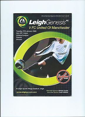 08/09 Leigh Genisis v FC United of Manchester  Mint Condition