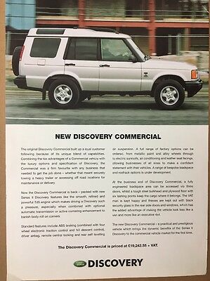 Car Brochure - 2001 Land Rover Discovery Commercial - UK