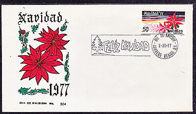 """Mex  1977 """"christmas 1977"""" First Day Cover W/sc#1159(Ps316)"""
