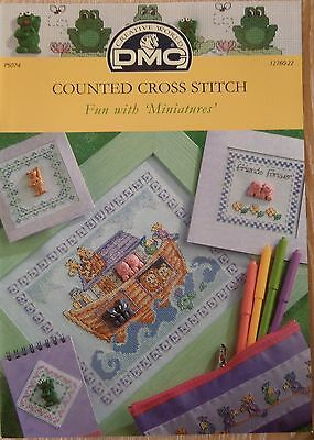 Dmc Fun With Miniatures Cross Stitch Chart Book New