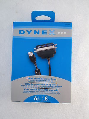 Dynex 6' USB to Parallel Converter Cable  DX-UBPC
