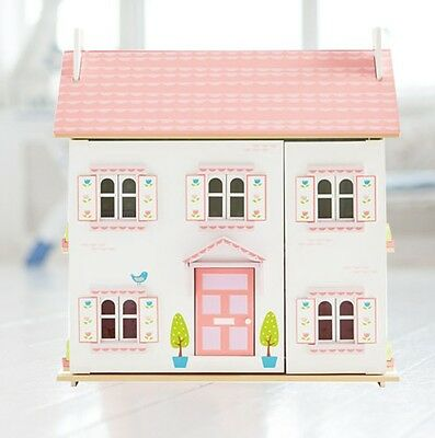 Beautiful GLTC Pink & White Wooden Bluebird Dolls House by Le Toy Van New Boxed