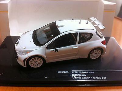 IXO MDCS005 Peugeot 207 S2000 Rally Spec white 1:43 - NUOVA - BRAND NEW