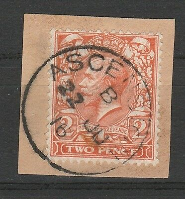 Ascension 1912 Kgv Great Britain 2D With Ascension Postmark