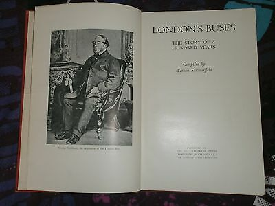 BOOK-LONDON' s BUSES, THE STORY OF A 100 YEARS, 1933