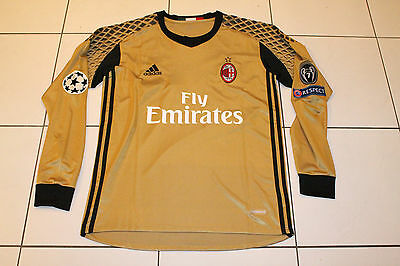 Ac Milan Donnarumma Goalkeepers Shirt Large Champions League Jersey Italy New