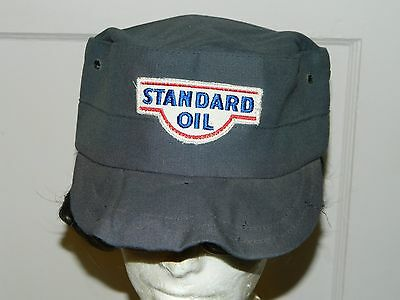 Vintage Standard Oil Grey Cap Hat Gas Service Station union made