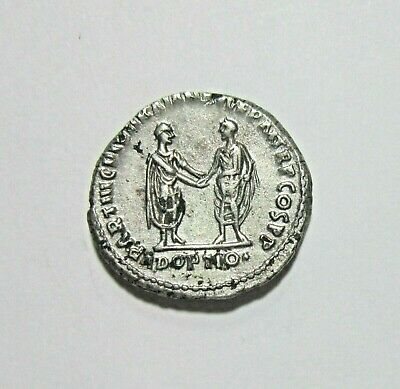 Hadrian, Fourre Denarius, 117-138 Ad. Rare Ancient Forgery, Trajan And Hadrian.