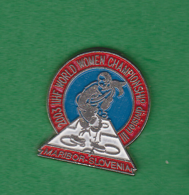 World Championship Ice Hockey women Slovenia 2003 IIHF WM WC pin badge
