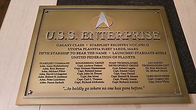 Star Trek Eaglemoss Starship Collection U.S.S Enterprise-D Dedication Plaque