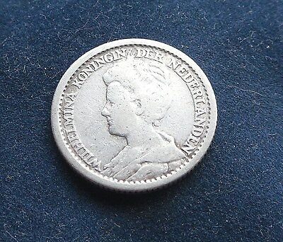 Netherlands, 25 Cents 1912, Rare Coin, Good Condition.