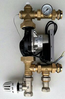 Underfloor Heating Thermostatic Mixing Group with Energy Saving Electronic Pump