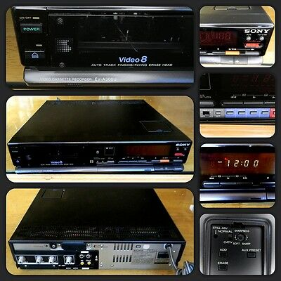 Sony Model EV- A300U 8mm Video8 Video Cassette Recorder Player - Read Descriptio