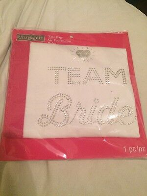 Brand New Celebrate It Rhinestone TEAM BRIDE Tote