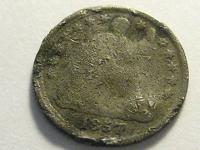 1857 Seated Liberty Half Dime Cull