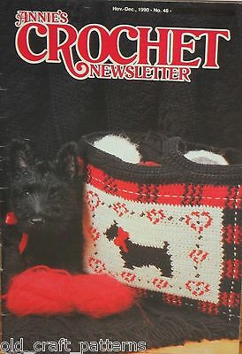 Annies Crochet Patterns No 48 Patterns Afghans Sweater Bear Dog Tote Slippers