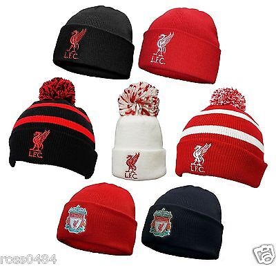 Liverpool FC Official Hat Selection Beanie Bronx Black Red Adult & Kids