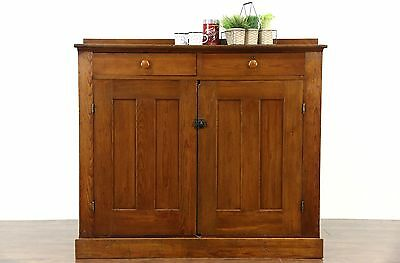 Country Pine 1890's Antique Rustic Cabinet or Pantry Jelly Cupboard