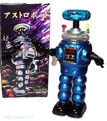 Lost in Space Robot YM-3 Blue Tin Toy Wind-up