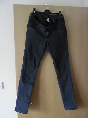H&M Under The Bump Maternity Black Skinny Jeans EUR 38 (10-12 UK)