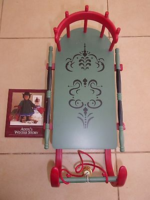 American girl doll winter cutter sled Addy's winter story