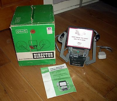Boxed Excellent Condition Vintage Erno 8mm Movie Editor Director for Cine Film