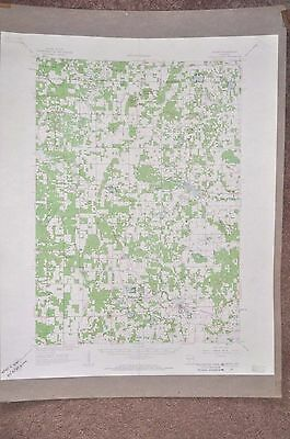 Vintage 1961 Oxford Wisconsin Map