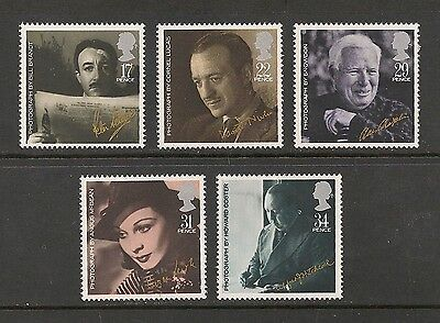 Great Britain #1119-1123 VF MNH - 198 17p to 34p Movie Stars & Directors Of Film